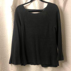 Loft grey bell sleeve sweater